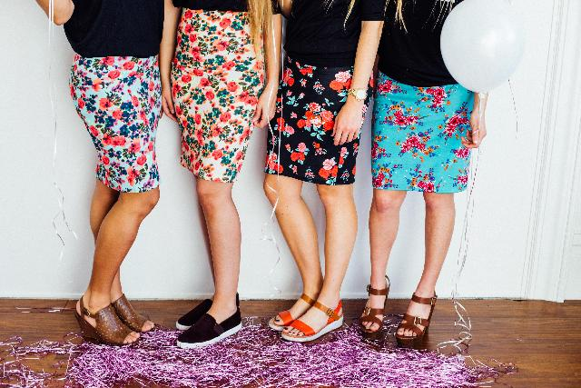 multiple skirts that has been newly sew